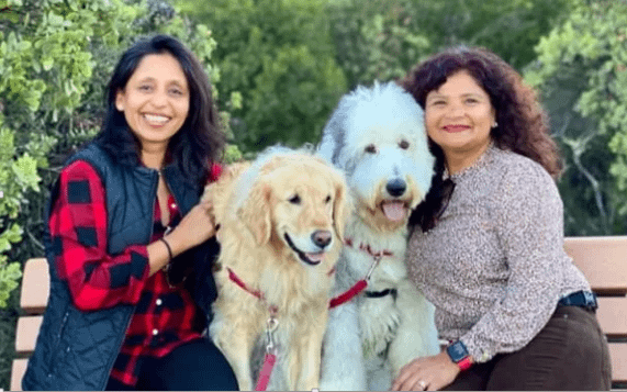 Ruchi and Purvi, owners of theDogHood App with their dogs